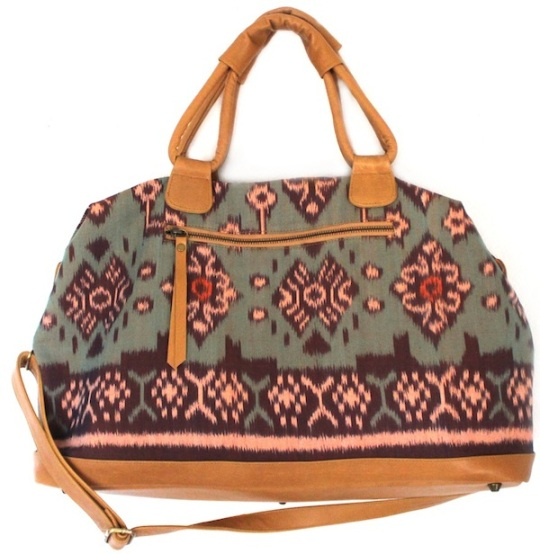 tiger rose duffle handbag
