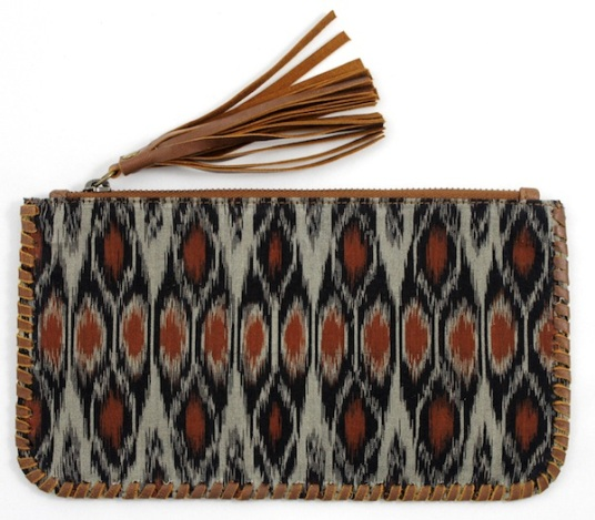ikat wallet purse maui tiger rose bag