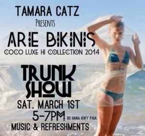 arie bikinis trunk show paia maui hawaii