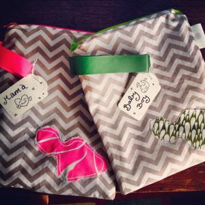 grey chevron maui stencil bag