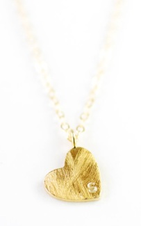 Kealoha Jewelry's Kuuipo Gold Heart with Initial