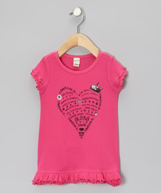 pink heart shirt girls dress maui hawaii