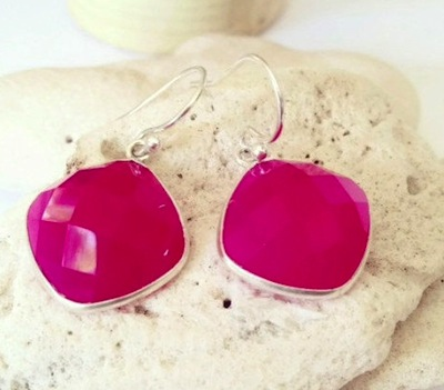 Magenta Earrings by Aina Kai
