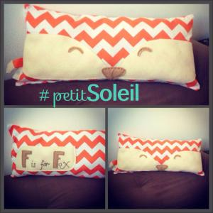 handmade fox pillow baby gift F