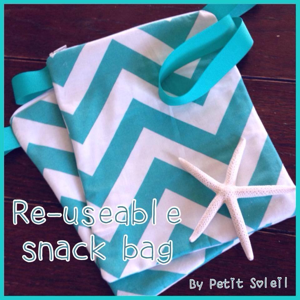3287007c8 handmade snack bag blue chevron. reusable snack bag hawaii