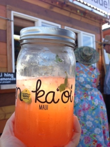 lemonade mason jar sun maui hawaii