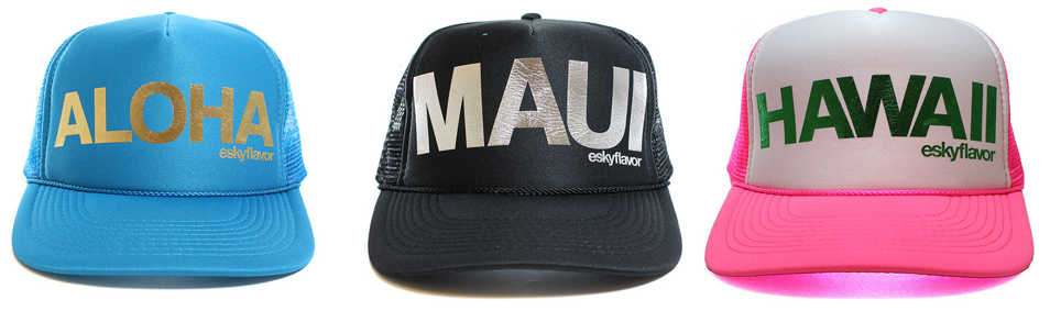 12c771eb96e Aloha Maui Hawaii Trucker Hats Custom Colors