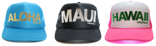 Aloha Maui Hawaii Trucker Hats Custom Colors