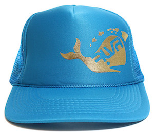 whale metallic trucker hat =