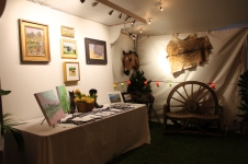 the artwork section of the jamboree's silent auction