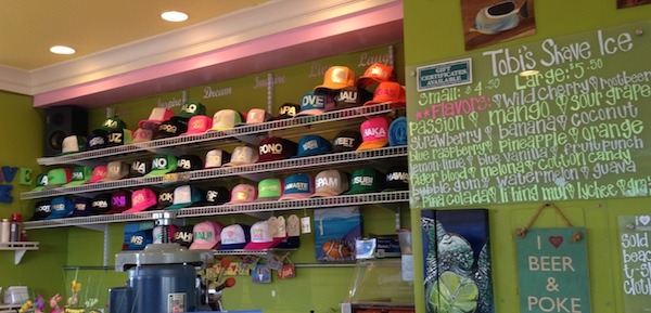 esky flavor hats shave ice maui