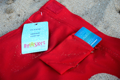 rip skirt coverup red poppy pocket inside