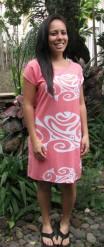 ha wahine peach white dress