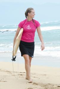 pink surfboard skirt surfer girl cover up rash guard