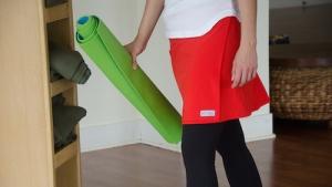yoga pants cover up skirt