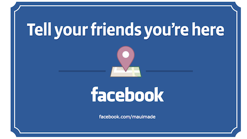 tell your friends you're here Facebook sign