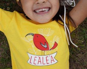 lea lea hawaii red bird shirt girls