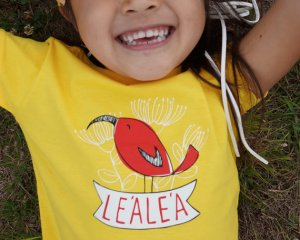 lea lea hawaii red bird shirt girls