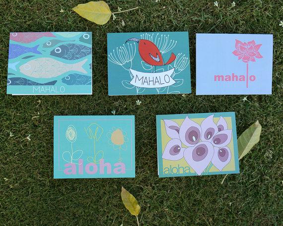 mahalo aloha greeting cards hawaii