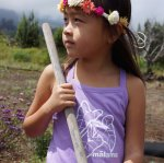 malama purple tank ruffle girls shirt