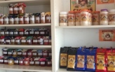 locally made jams, jellies, coffee and sugar!