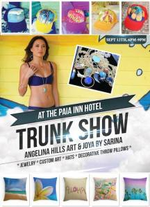angelina hills trunk show paia