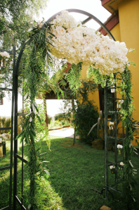 Metal Arch Maui Wedding Floral Design