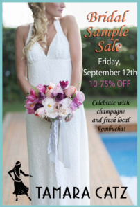 tamara catz sample sale bridal paia