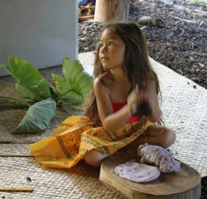 tiny poi pounder girl maui hawaii