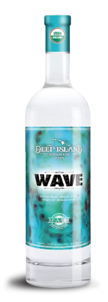 maui new rum deep island rum wave clear