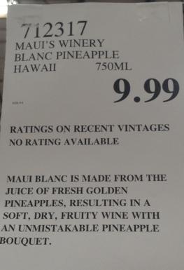 maui pineapple wine price costco buy