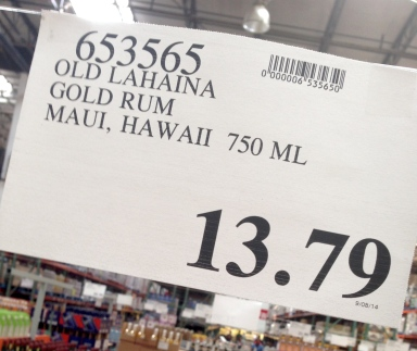 how much is old lahaina rum at costco