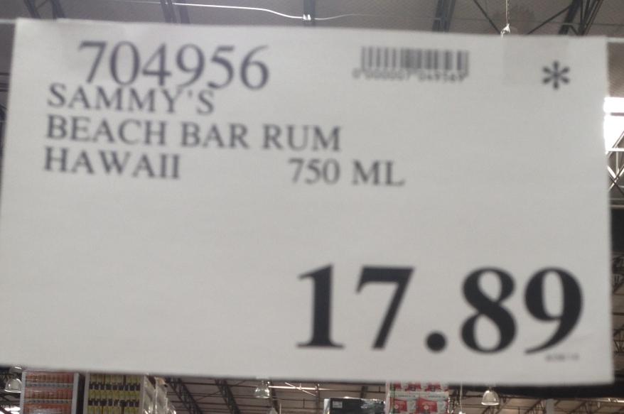 sammy beach bar rum maui costco