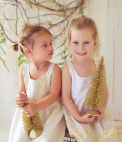 maui christmas dress girls white gold