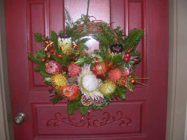 maui protea holiday wreath ship free