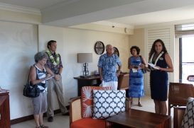 Motion-sensing air conditioning turns off when the lanai doors are open and when guests leave the room