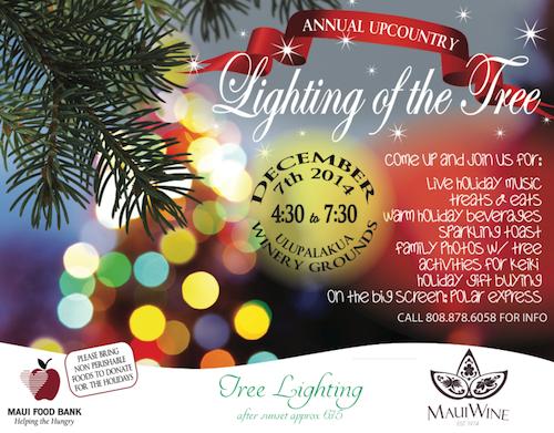 upcountry holiday tree lighting