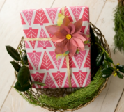 christmas gift topper craft paper idea