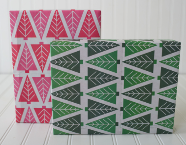 christmas tree wrapping paper compostable