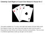 maui celebrity card game - poker night - don nelson - owen wilson - woody harrelson - willie nelson