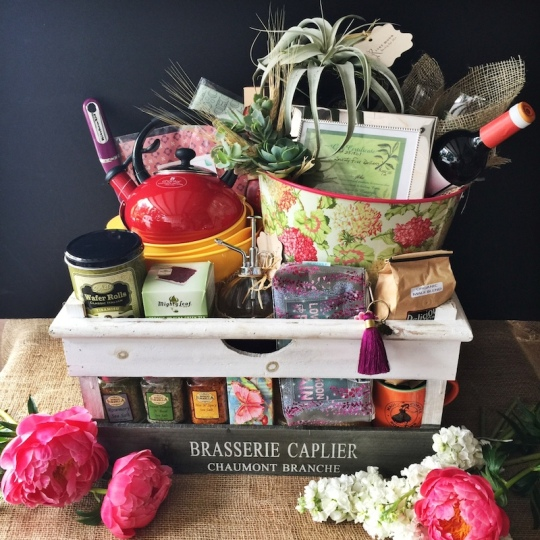 mother's day basket - auction gift basket ideas