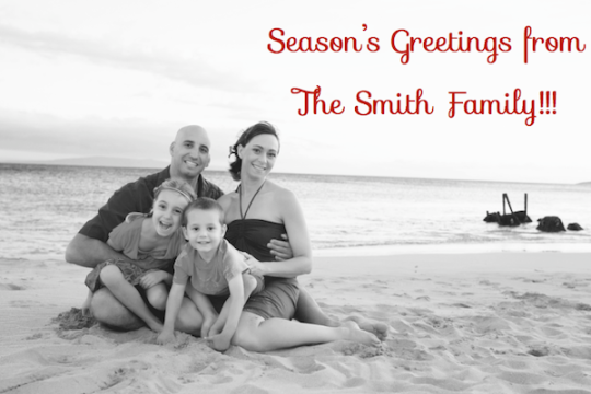 Photo by Kristy Copperfield, Crappy Fake Holiday Card Design by Me...