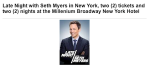seth myers late night NYC hotel stay auction item