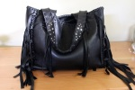 black.tote.leather.beeswax