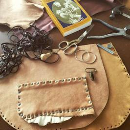 leather bag handmade leather silver jewelry