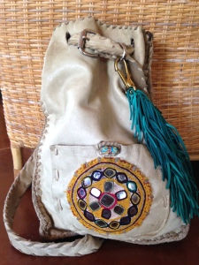 leather bag handmade leather work braid work tassels