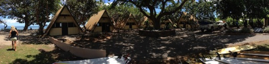 A panoramic view of the camp grounds.