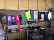 The camp store! Full of Maui Surfer Girls logo attire