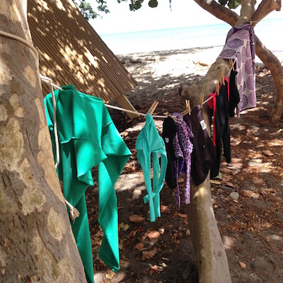 drying swim suits