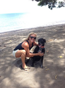 Dustin and the Maui Surfer Girls' Mascot Luna!